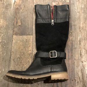 SIERRAWEST black/plaid leather boots